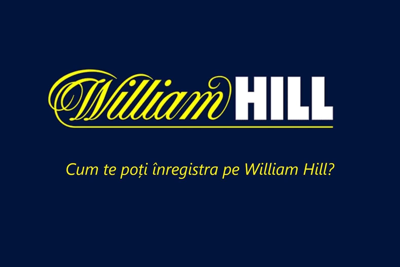 Inregistrare pe William Hill